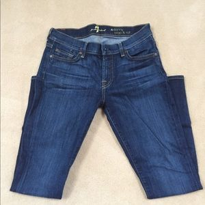 7 for all Mankind. Skinny Crop & Roll. Size 28